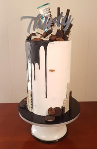 30th birthday naked cake chocolate drip oreo hersheys