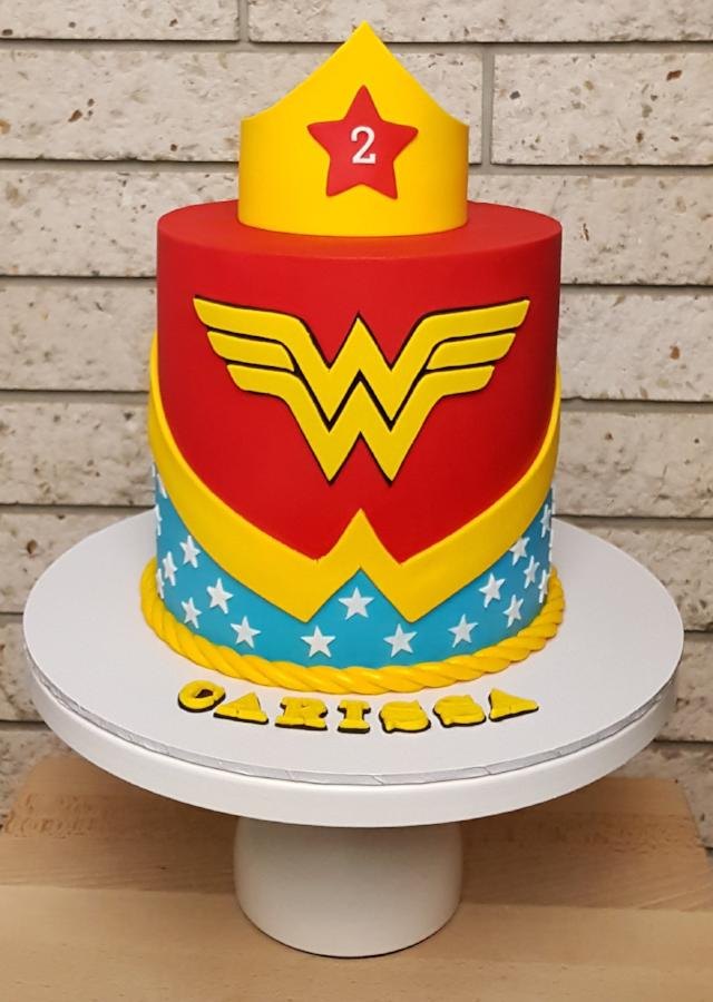 Load Image Into Gallery Viewer Wonder Woman Birthday Cake Dc Marvel