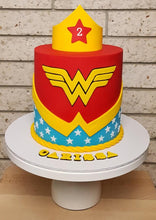 Load image into Gallery viewer, wonder woman birthday cake dc marvel