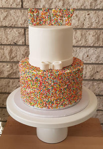 Baby Shower cake with sprinkles