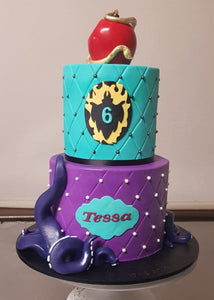the descendants disney bithday cake tentacle apple