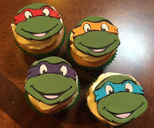 Load image into Gallery viewer, ninja turtles cupcakes