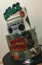 Load image into Gallery viewer, 90s birthday cake hip hop basketball floppy disk graffiti boombox gangsta
