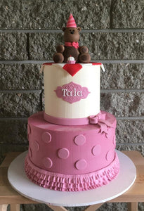bear birthday cake polka dot