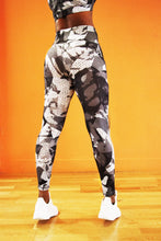 Load image into Gallery viewer, Monochrome - Shakolo back view grey camoflage high waisted leggings
