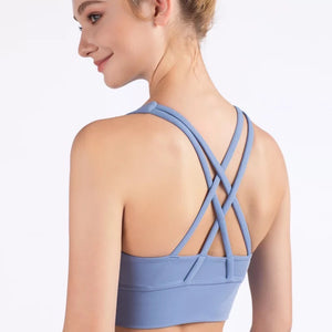 Shakolo sports bra with cross over back straps