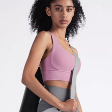 Load image into Gallery viewer, Shakolo Sports bra with thick straps and longer length