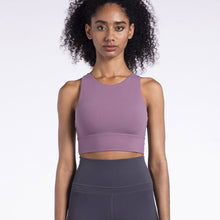 Load image into Gallery viewer, Shakolo high neck sports bra with longer length