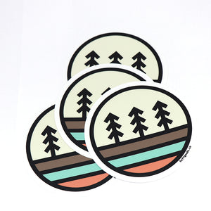 3 Tree Sticker