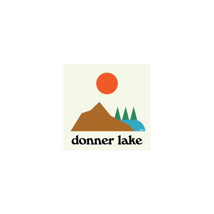 Donner Lake Sticker
