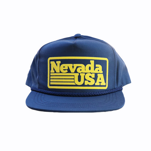 Nevada USA Retro Snapback Navy