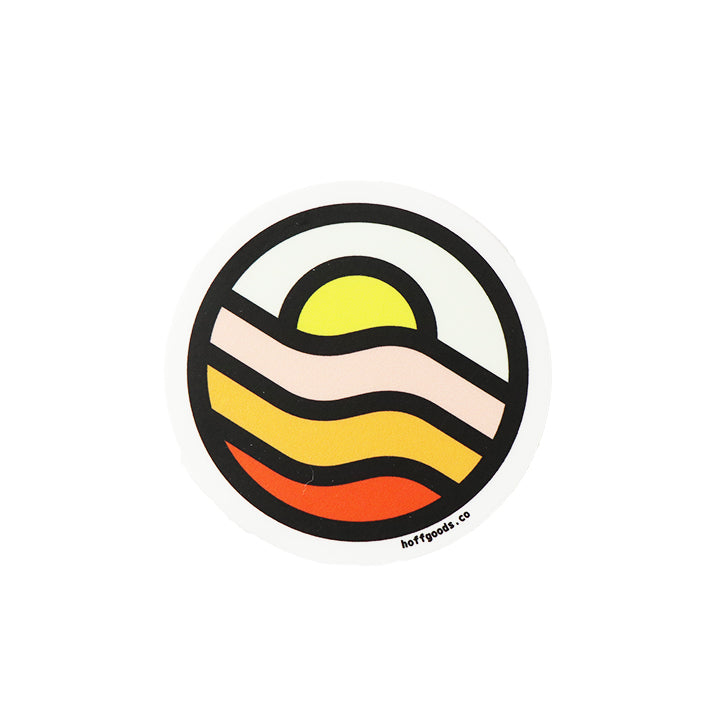 Wavy Sunset Sticker