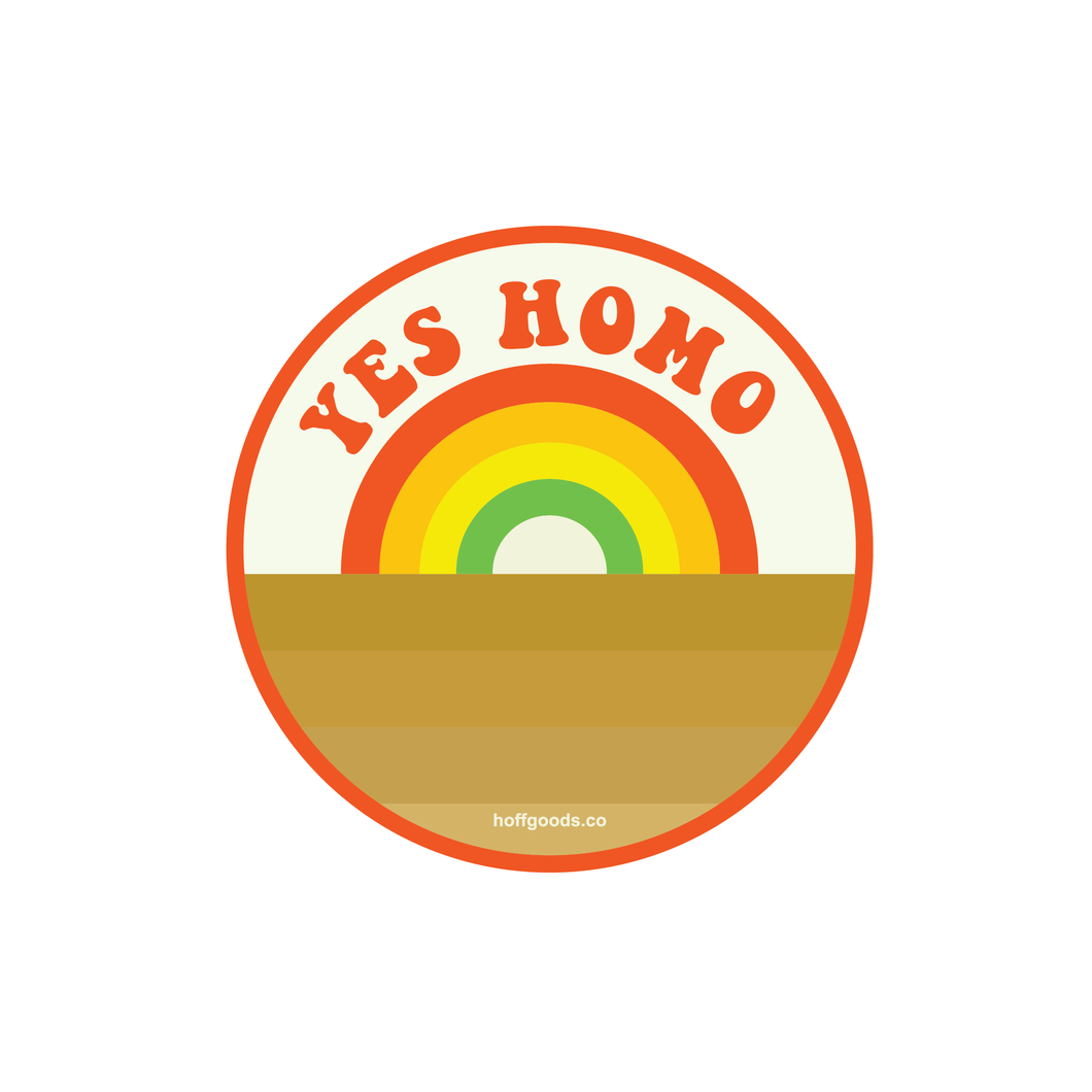 Yes Homo Sticker