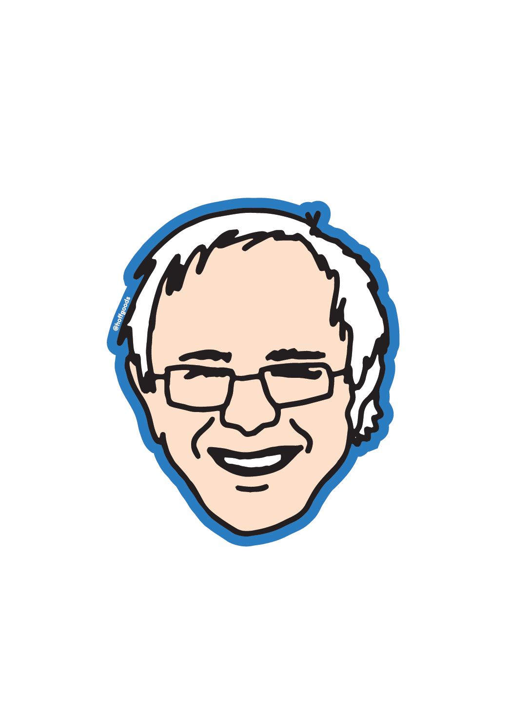 Bernie Sanders Face Sticker