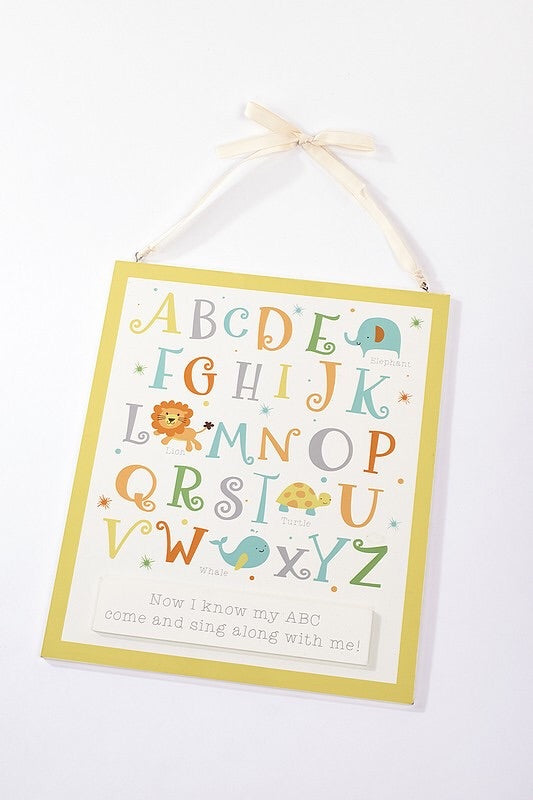 langs, pretty, perfect, present, alphabet, plaque, unisex, neutral, hanging, letters, baby shower, baby gift, christening, present, florrie & will