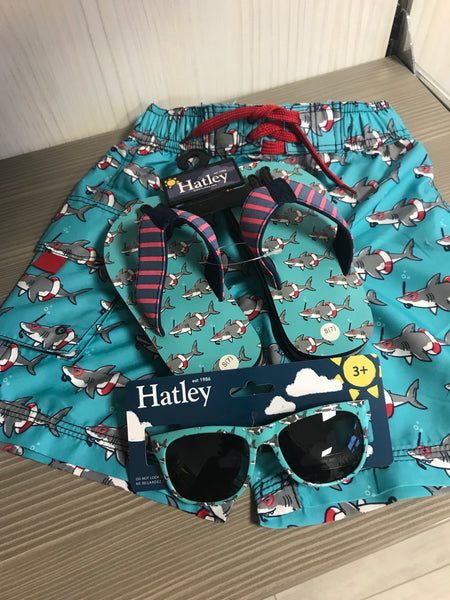 Hatley Boys Green 'Shark' Flip Flops