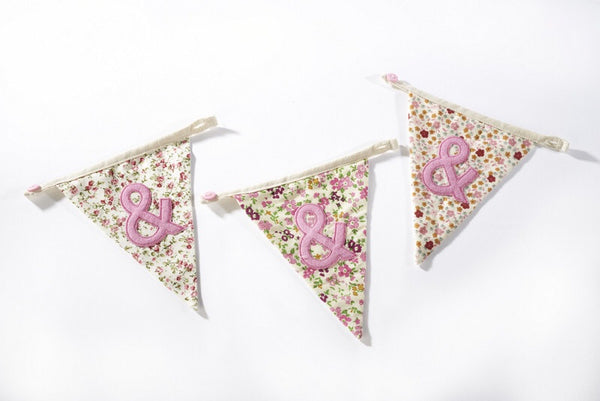Bunting Girls Floral '&' flag