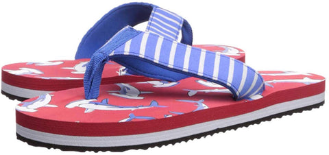 hatley, baby boy, boy, flip flop, flip flops, red, blue, white, shark, summer, florrie & will