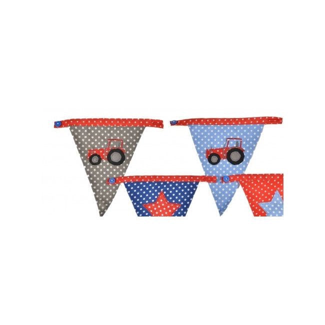 Bunting Boys Dotty Tractor flag