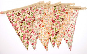 Bunting Girls floral Plain flags