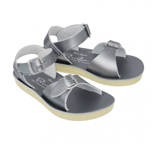 SaltWater Salt-Water salt water SaltWater Sandals Sandels Pewter Youth Child Adult Shoes Shoe Leather waterproof girl woman women Womans