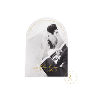 Luxury wedding stationery, Arched Thank you cards