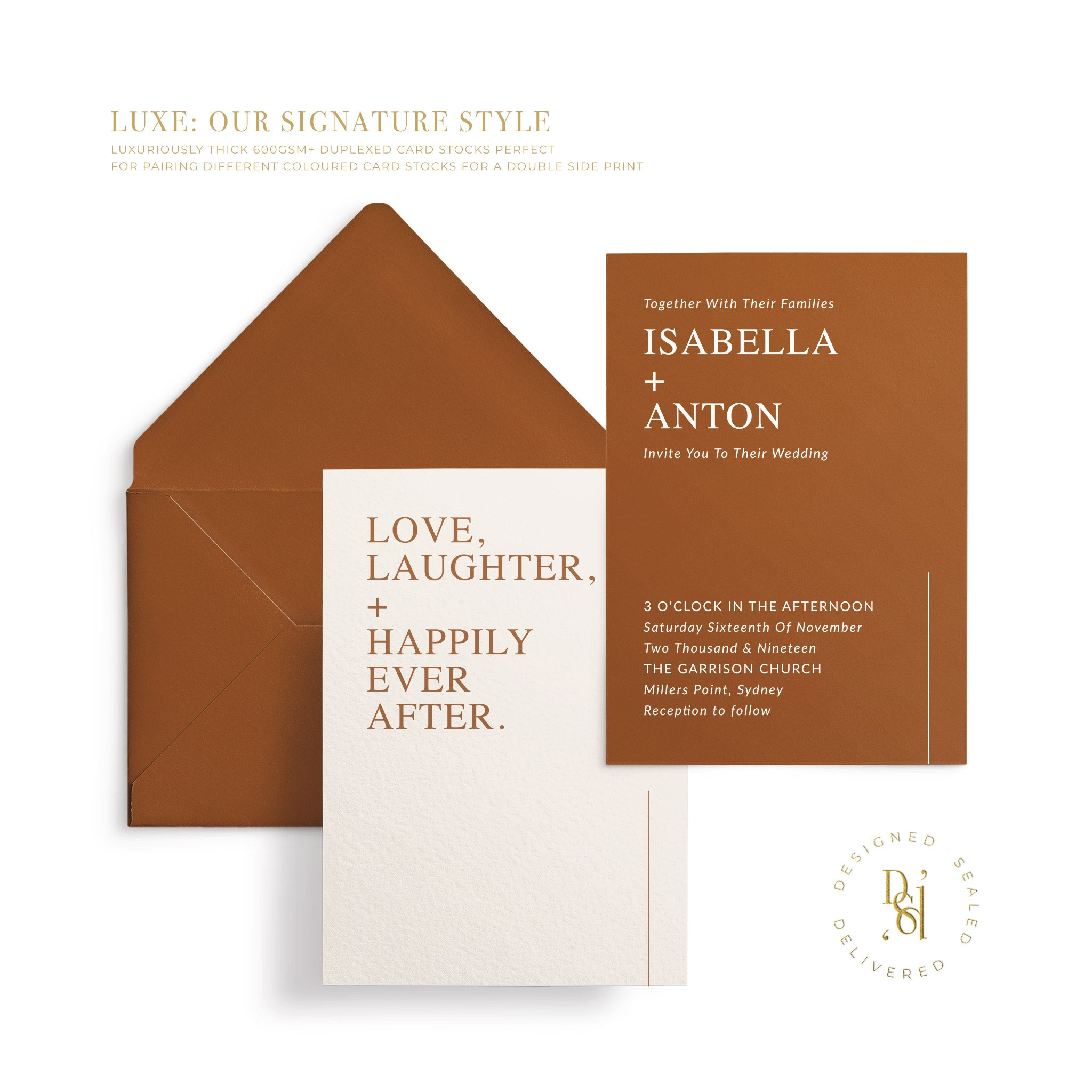 MODESTY Signature Luxe Invitation