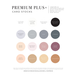 DSD Premium Plus+ Card Stocks best seller colour swatches