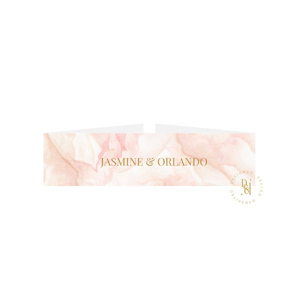 Rosé Collection: Patterned bellyband with personalised names