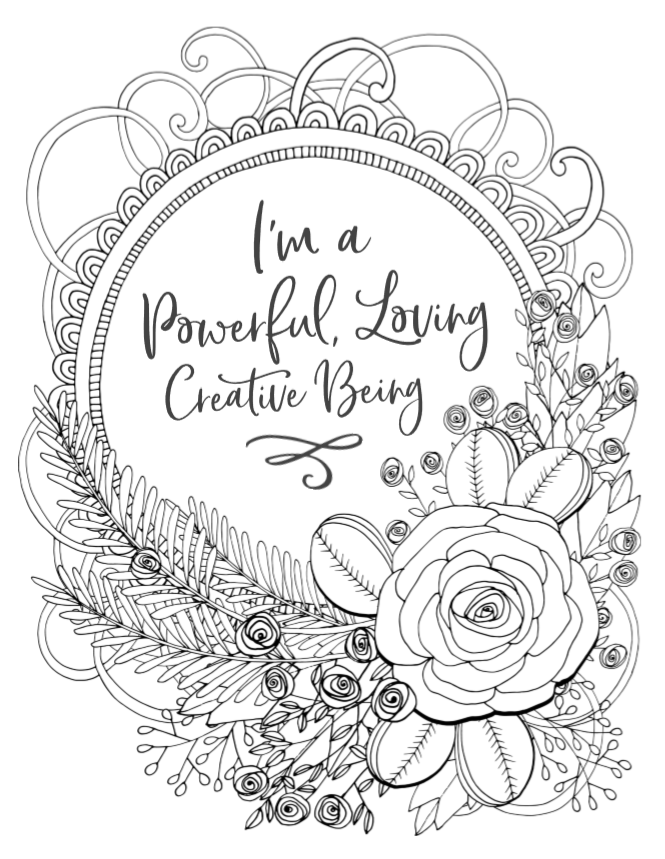 Pregnancy & Birth Affirmation Coloring Pages – Pregnant Mama Baby Life