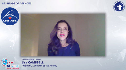 Canadian Space Agency's President Lisa Campbell speaks to the 2020 International Astronautical Conference (Transcript)