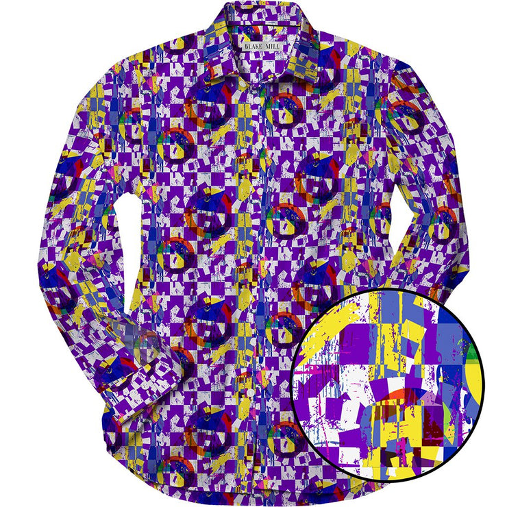 Abstract Purple Shirt