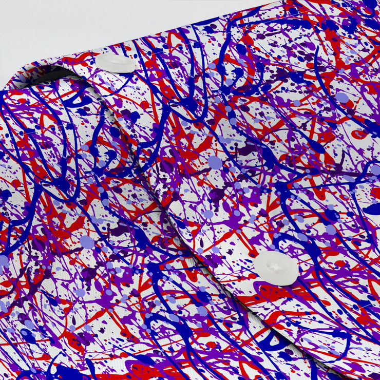 Jackson Pollock Purple Shirt