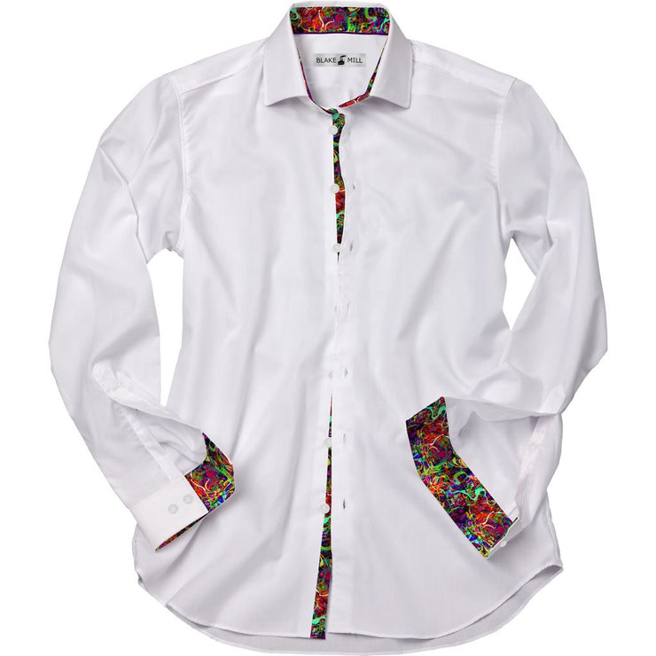 White with Brainwave Accents Shirt