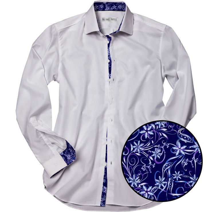 White with Cyanide Fishing Dark Accents Shirt