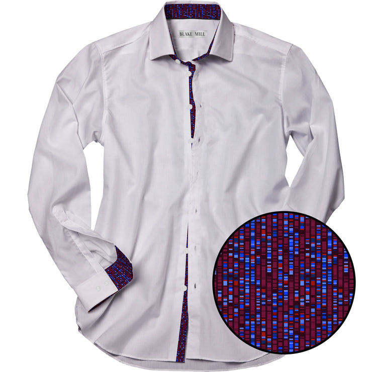 White with Human Genome Accents Shirt