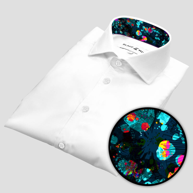 White with Octopus's Garden Accents Shirt