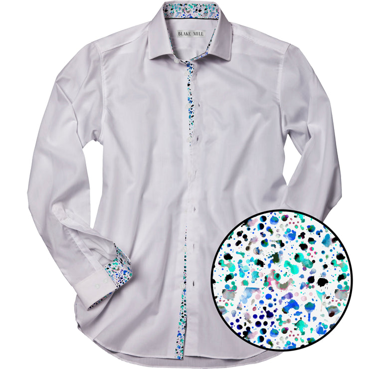 White with Watercolour Accents Shirt