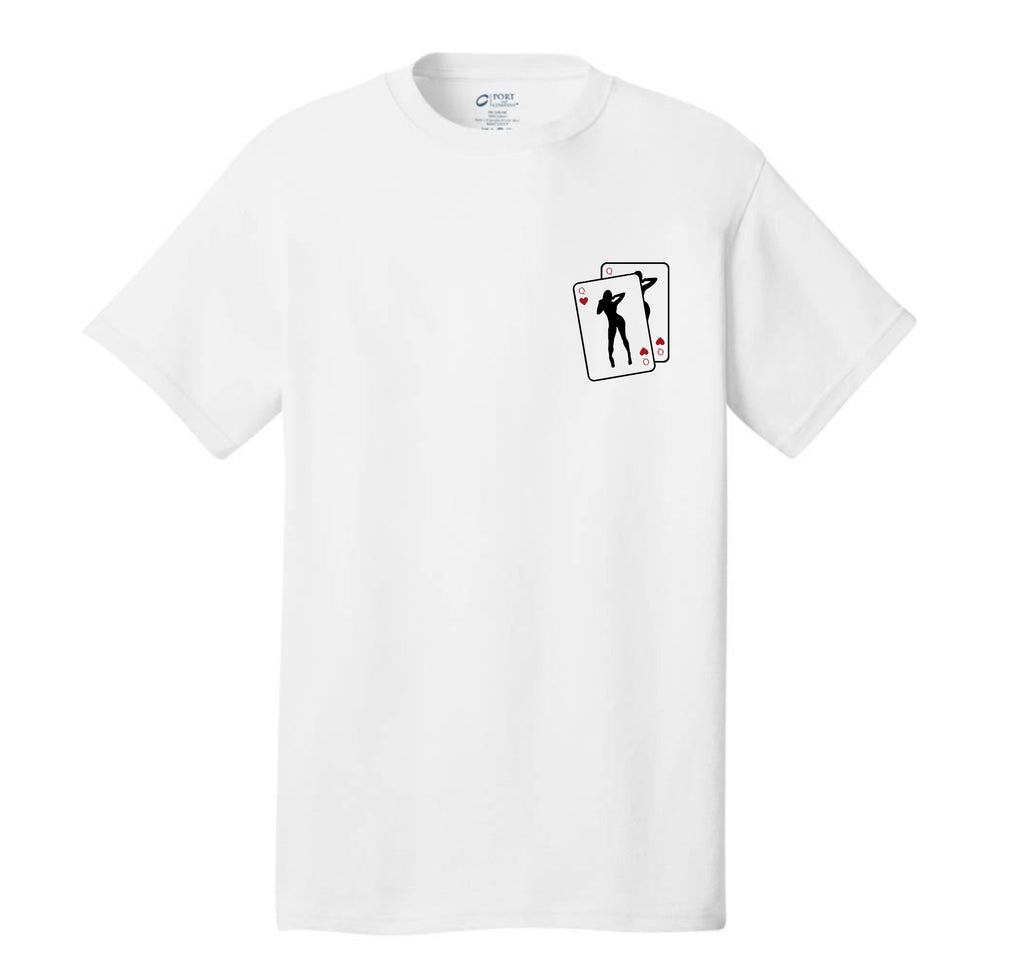 JUSTINA QUEEN OF HEARTS FULL WHITE TEE