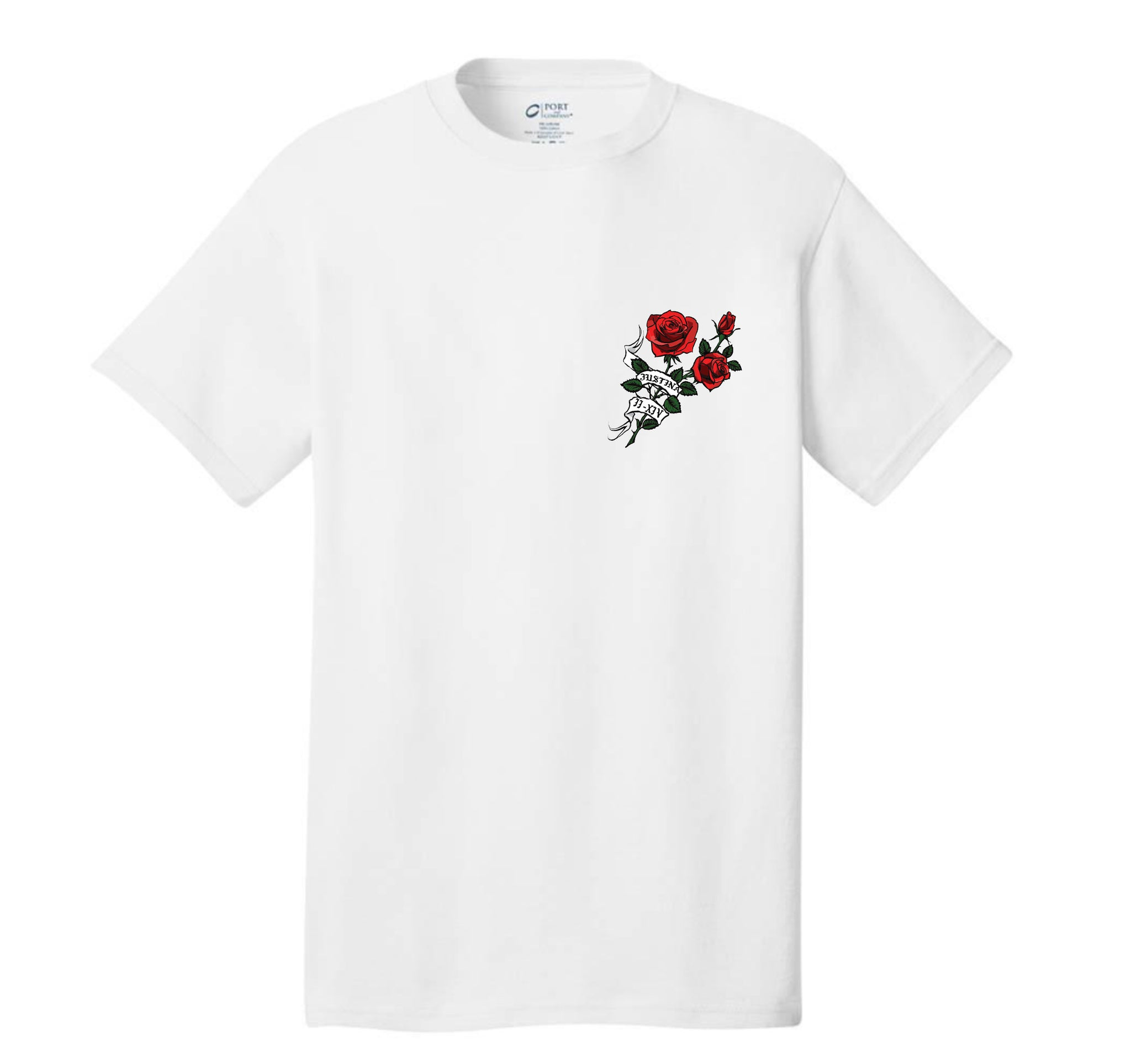 JV ROSES FULL BLACK TEE