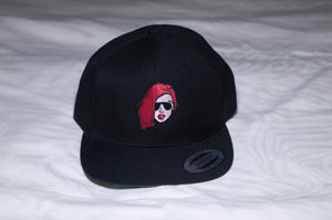 Black Justina snap back hat