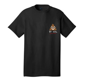 Shittin On Em Emoji Black Tee