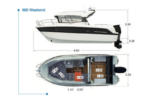 Parker 660 Weekend Abmessungen | Inter Yacht West