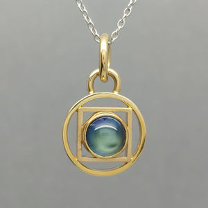 Blue Moonstone & 14KY Pendant by Lori Braun