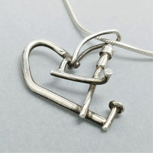 SOLD Addle Heart Sterling Pendant