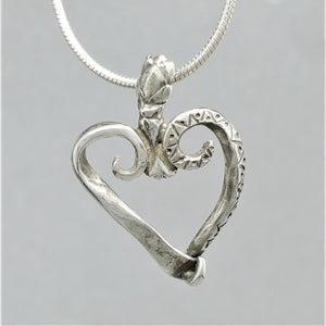 SOLD Crowned Heart Sterling Pendant