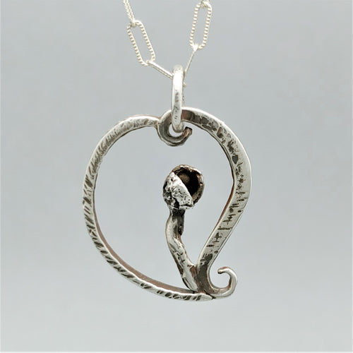 SOLD Heart of Autumn Sterling Pendant