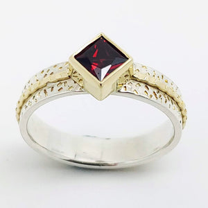 Garnet  Sterling 14KY ring by Lori Braun