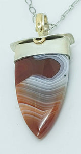 Lake Superior Sterling 14ky Pendant by Lori Braun
