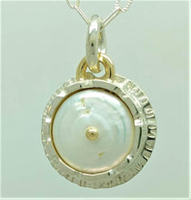 Pearl Sterling 14ky Pendant by Lori Braun